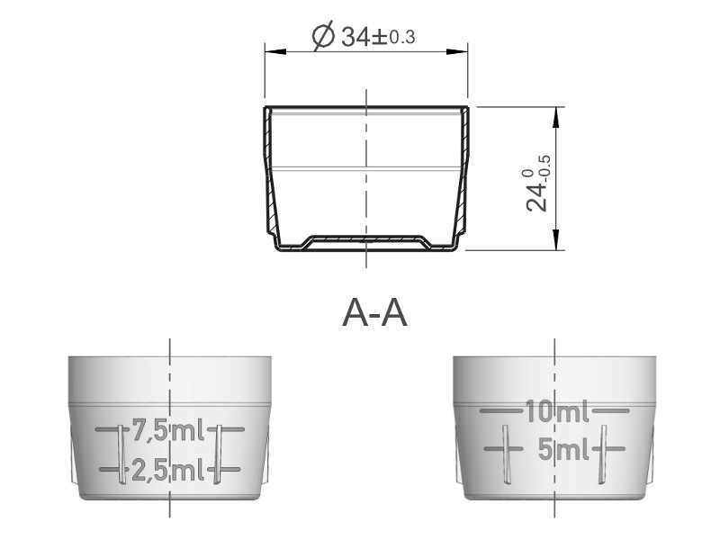 Measuring cup 16.663.0x P1