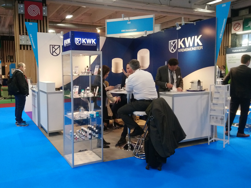 Messestand KWK Pharmapack 2020 Paris
